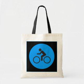 bike and rider tote budget tote bag