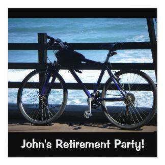 Bike at Sea/Retirement Party Invites