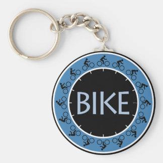 Bike Basic Round Button Key Ring