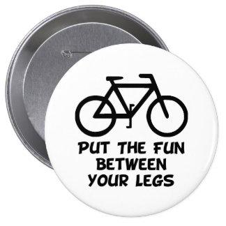 Bike Between Legs 10 Cm Round Badge