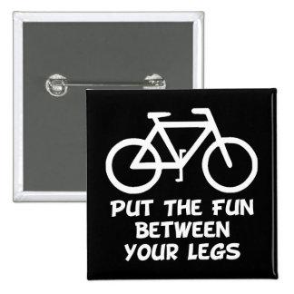 Bike Between Legs 15 Cm Square Badge