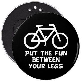 Bike Between Legs 6 Cm Round Badge