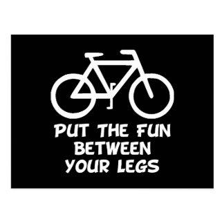 Bike Between Legs Postcard