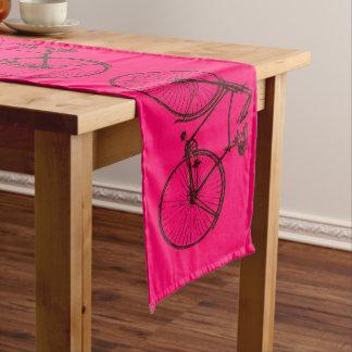 bike bicycle bike table runner bright pink brown