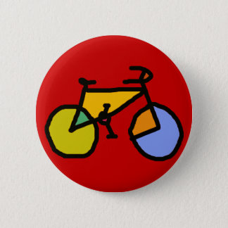 bike , bicycle ; biking / cycling 6 cm round badge
