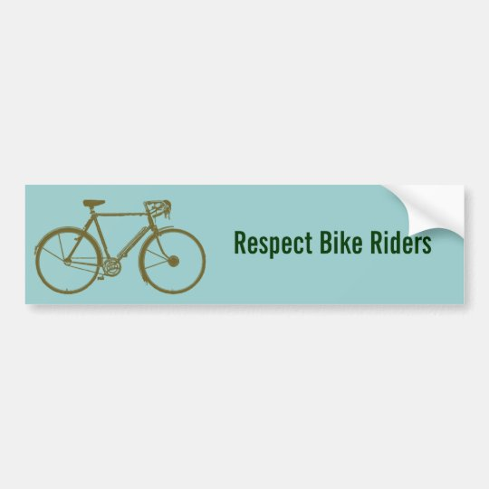 bike, bicycle; biking/cycling bumper sticker