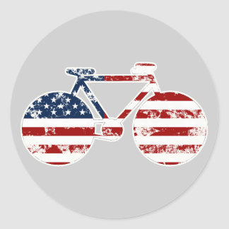 bike , bicycle ; biking / cycling classic round sticker