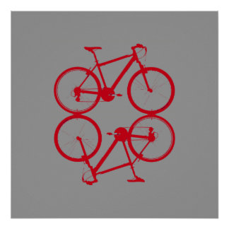 bike , bicycle ; biking / cycling poster