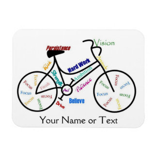 Bike, Bicycle, Cycle, Sport, Biking, Motivational Rectangular Photo Magnet