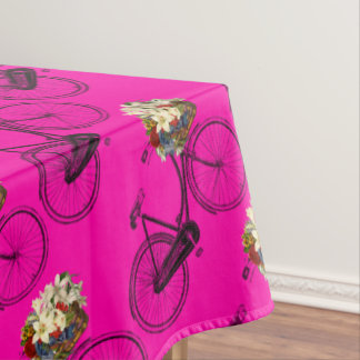 Bike bicycle flower pretty tablecloth pink