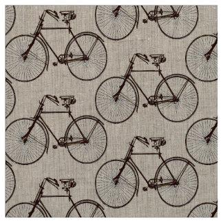 Bike bicycle  pretty spring fabric brown