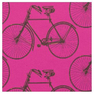 Bike bicycle  pretty spring fabric pink brown
