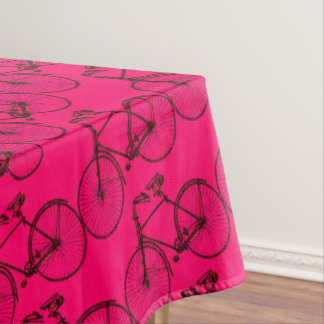 Bike bicycle pretty tablecloth brown pink