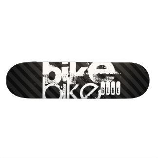 Bike; Black & Dark Gray Stripes 18.1 Cm Old School Skateboard Deck