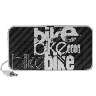 Bike; Black & Dark Gray Stripes Mini Speakers