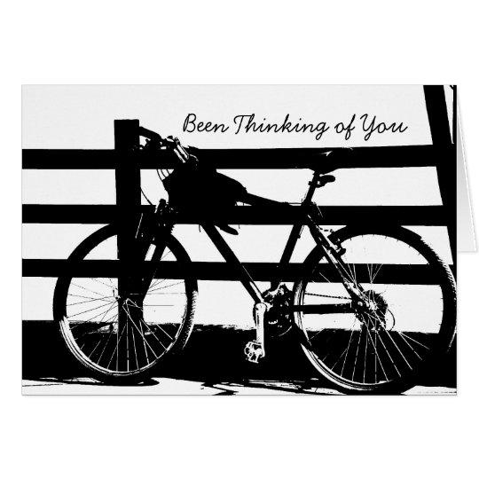 Bike/Black&White Thinking-of-You Card