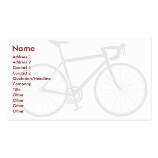Bike - Business Pack Of Standard Business Cards
