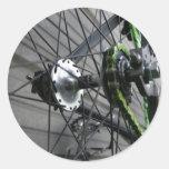 Bike Chain Classic Round Sticker