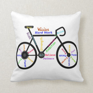 Bike, Cycle, Motivational Words Cushion