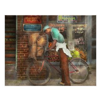 Bike - Delivering groceries 1938 21.5 Cm X 28 Cm Flyer