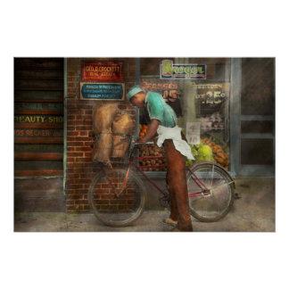 Bike - Delivering groceries 1938 Poster