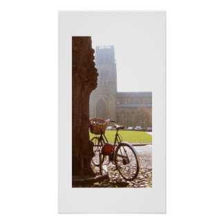 Bike & Durhm Cathedral Poster