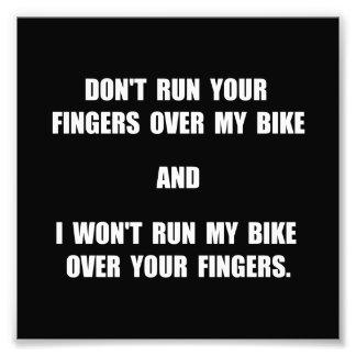 Bike Fingers Photographic Print