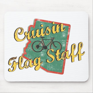 Bike Flag Staff Bicycle Arizona Mouse Pads