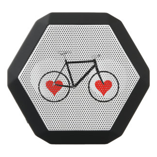 Bike Heart Wheels Black Bluetooth Speaker