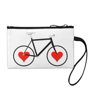 Bike Heart Wheels Coin Purse