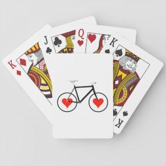 Bike Heart wheels Poker Deck