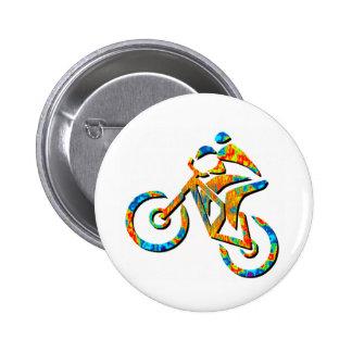 Bike Heel Stoned 6 Cm Round Badge