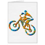 Bike Heel Stoned Greeting Card