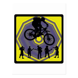 Bike Home Stretch Postcard