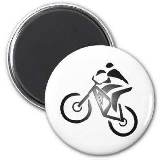 Bike In Cover 6 Cm Round Magnet
