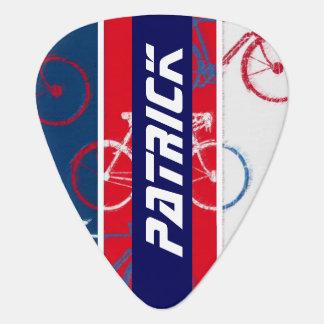 bike inspired with custom-name plectrum
