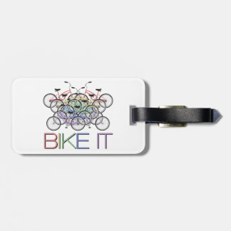 Bike it - Words with 10 colorful bicycles! So cool Luggage Tag