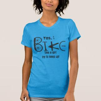 Bike like a Girl Funny Quote Graffiti Bike Parts Tees