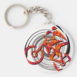 Bike Like Hans Basic Round Button Key Ring