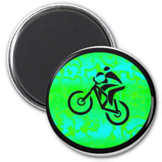 Bike Lime Funky Magnet