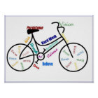 Bike Motivational Cycle Sport Biking, Motivational Poster