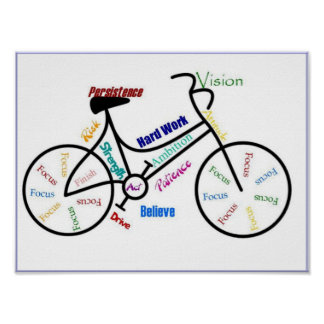 Bike Motivational Cycle Sport Biking, Motivational Poster