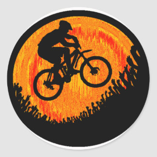 Bike multiple hips classic round sticker