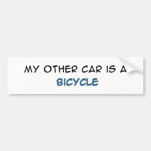 Bike - My other car is a bike Bumper Sticker
