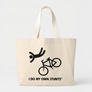 Bike My Own Stunts Canvas Bags