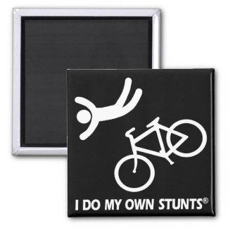 Bike My Own Stunts Square Magnet