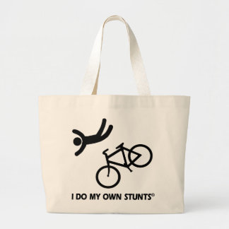 Bike My Own Stunts Jumbo Tote Bag