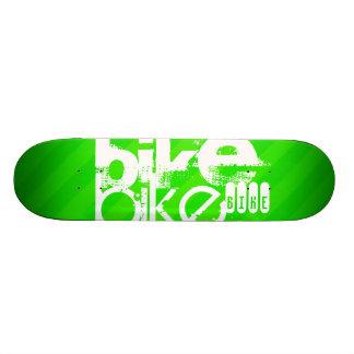 Bike; Neon Green Stripes 21.6 Cm Skateboard Deck