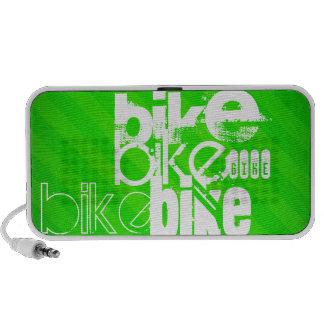 Bike; Neon Green Stripes Travelling Speakers