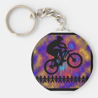Bike New Diggs Basic Round Button Key Ring